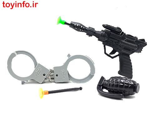 اسباب بازی تفنگ و دستبند پلیس
