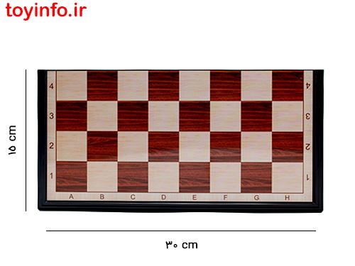 ابعاد صفحه بازی شطرنج
