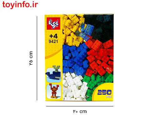 ابعاد بسته بندی لگو 250 قطعه