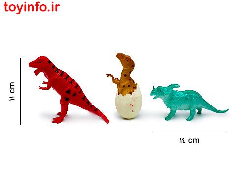 ابعاد عروسک دایناسور